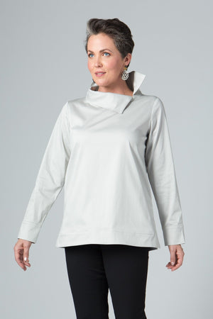 Asymmetrical Collar Tunic - New Orleans Wovens - Tops - Blouses