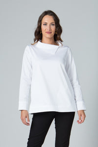 Asymmetrical Collar Tunic - New Orleans Wovens