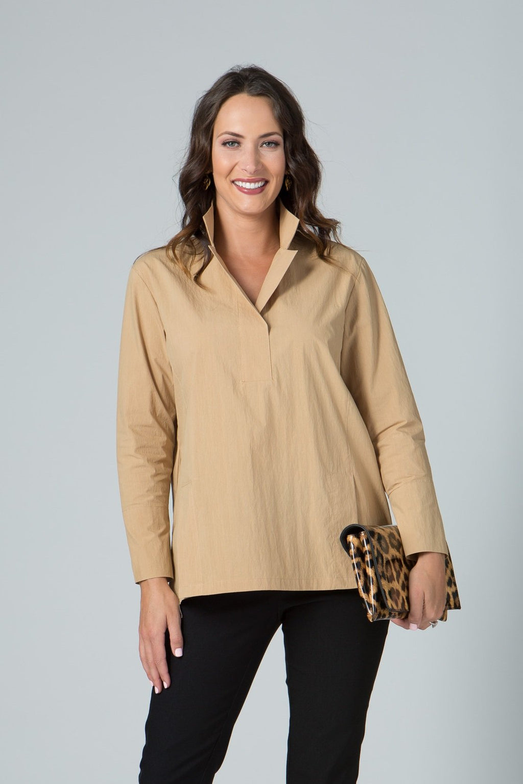 Tunic with Front Slits