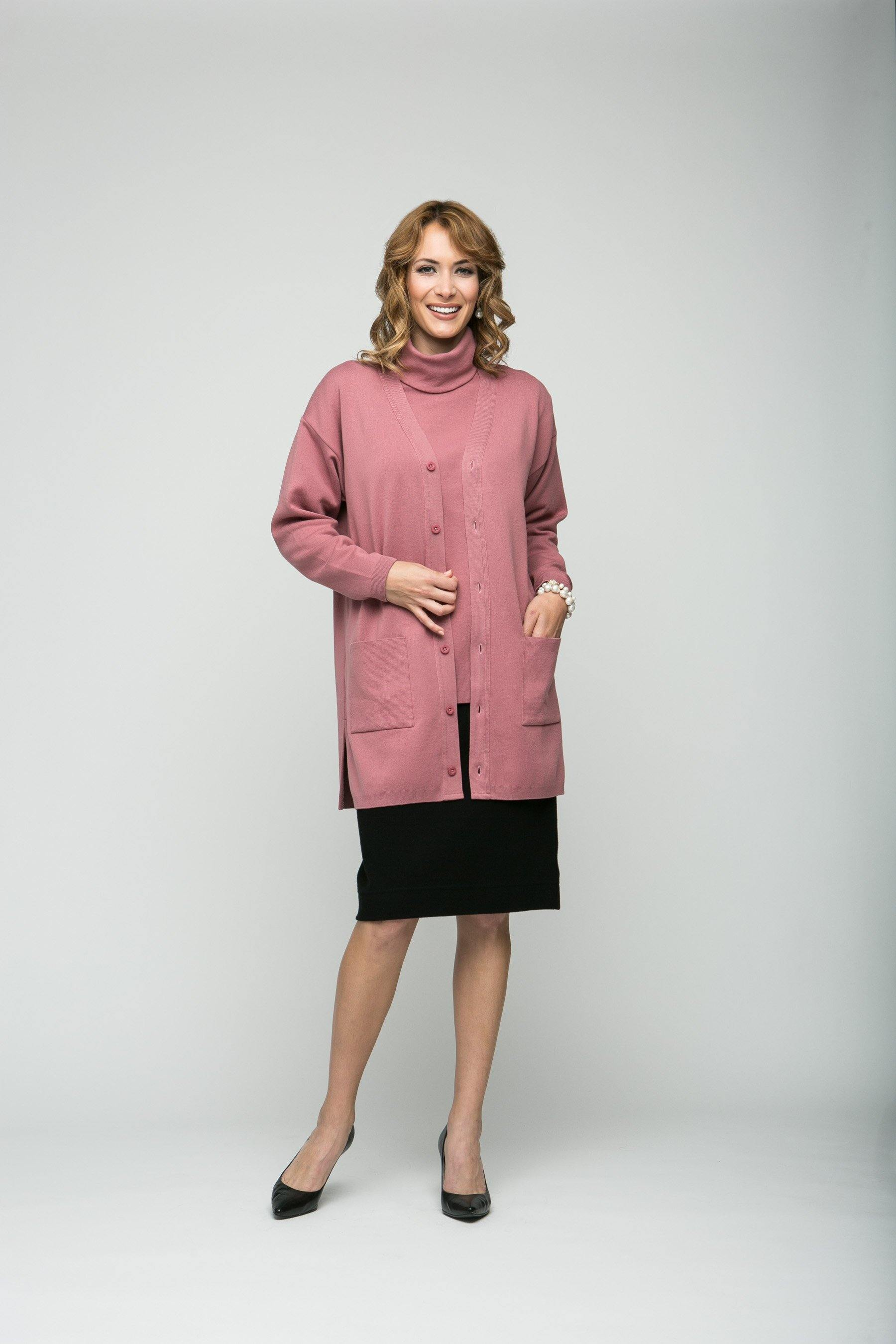 "32"" Long Sleeve Tunic Cardigan"