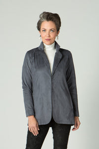 Stretch Suede Open Jacket - Lilli Sucré - Outerwear - Jackets