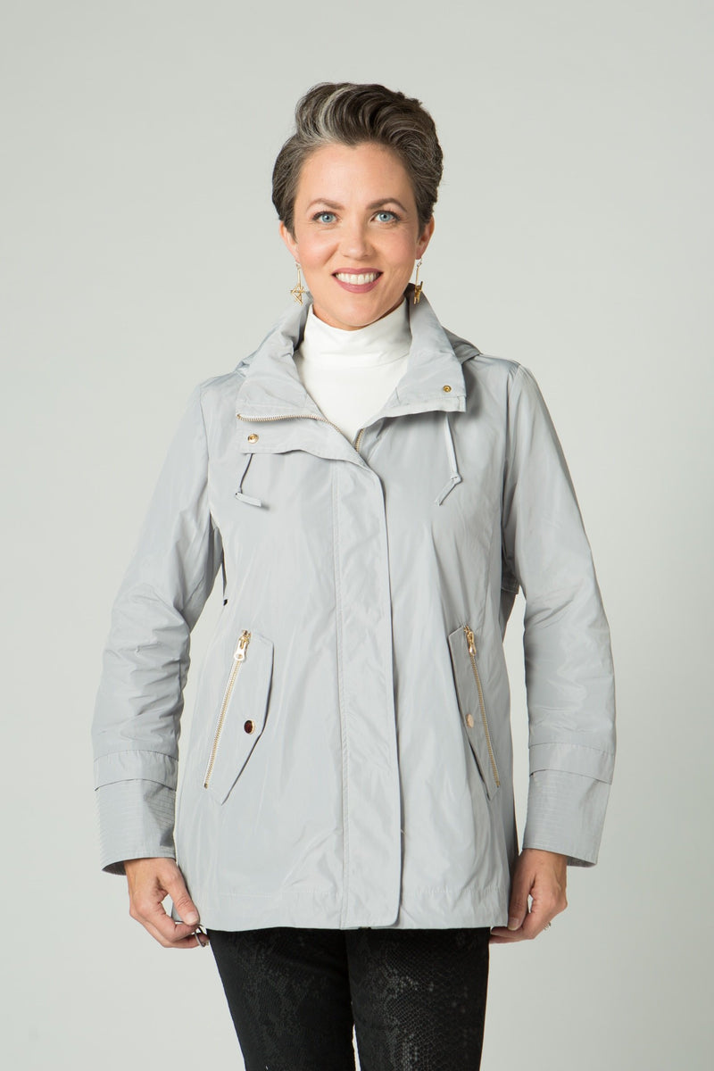 Long Sleeve Rain Coat with Hood - Lilli Sucré - Outerwear - Jackets