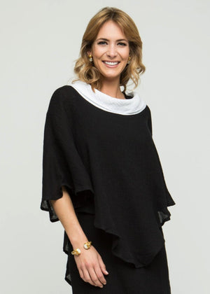 "26"" Poncho with Side Snap"