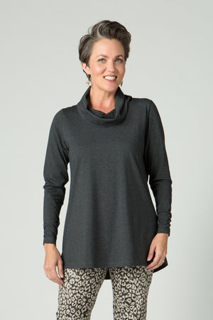 Long Sleeve Cowl Neck Tunic - Endywear - Tops - Blouses