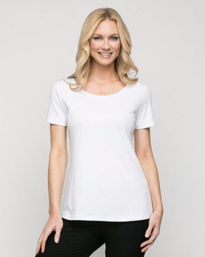 Pima Cotton Short Sleeve Top