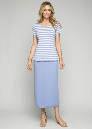 Cap Sleeve Stripe Tunic