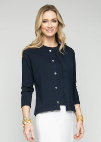 "24"" Long Sleeve Crew Neck Cardigan"