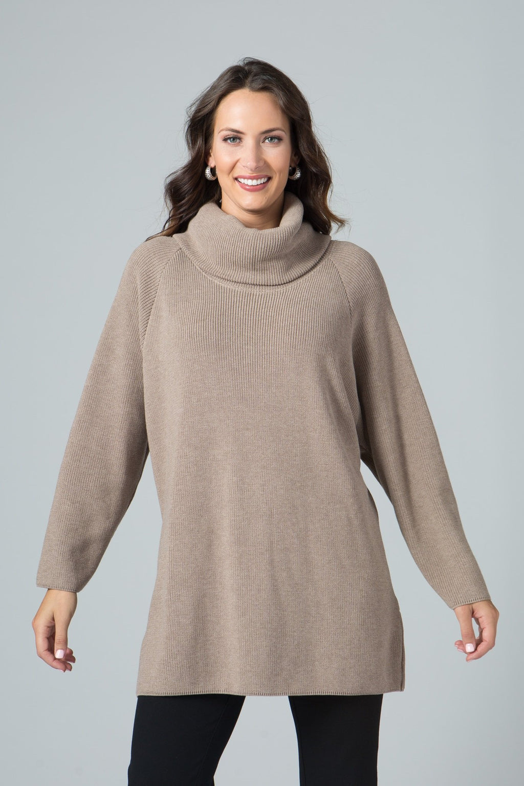 Oversized Cowl Neck Sweater Tunic - New Orleans Knitwear