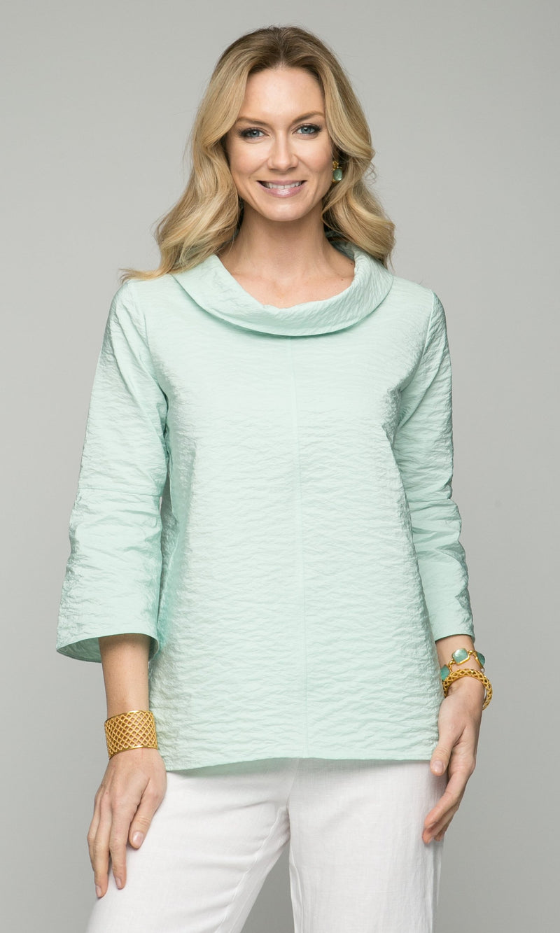"26"" Cowl Neck with Lightly Bell Sleeves - Amélline - Tops - Blouses"
