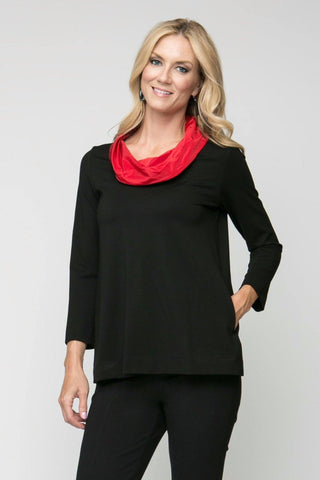 Cowl Neck Tunic with Pockets