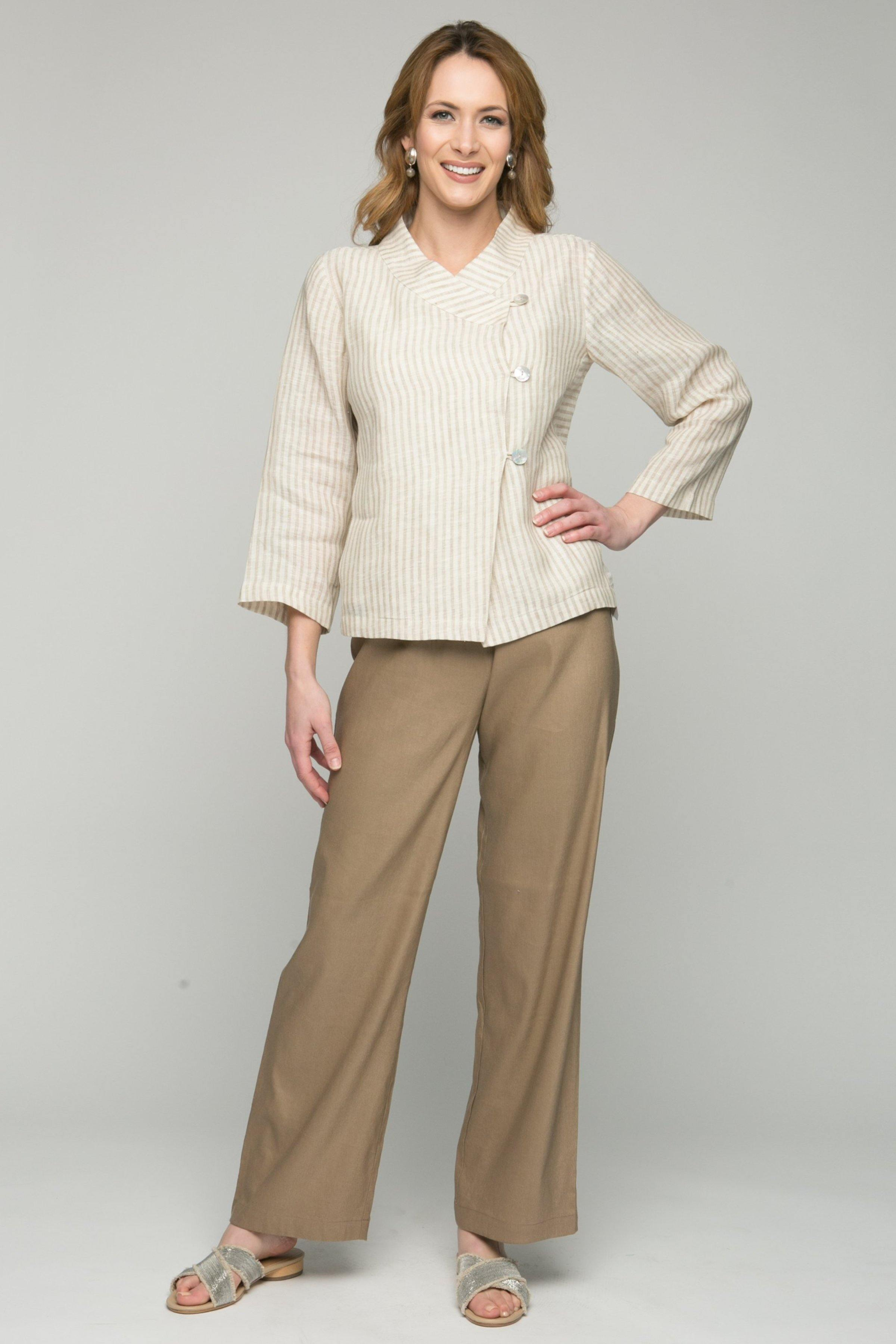 "40"" Long Wide Leg Pants with Elastic Waist"