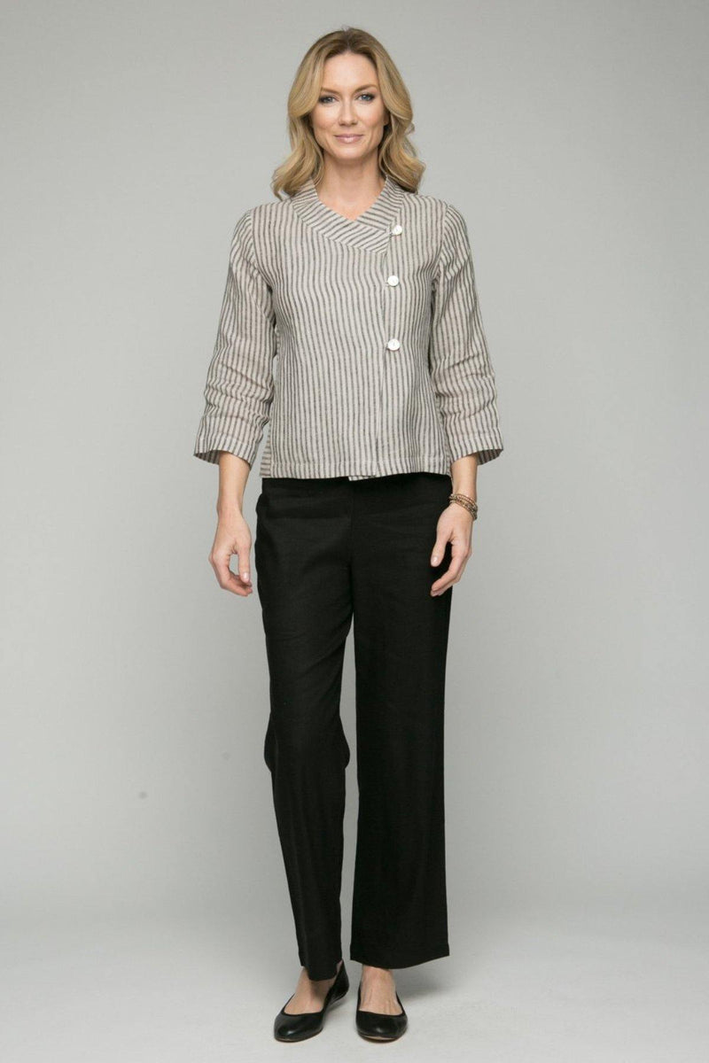 "40"" Wide Leg Pant with Flat Elastic Waist"