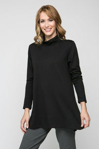 Long Sleeve Turtle Neck with Side Slits - New Orleans Knitwear - Tops - Blouses