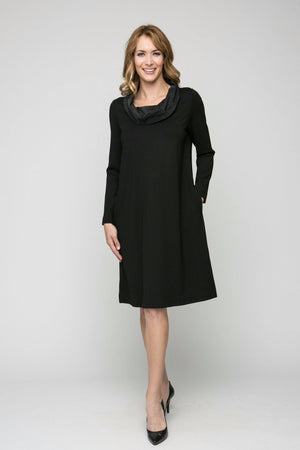 Cowl Neck Dress with Pockets