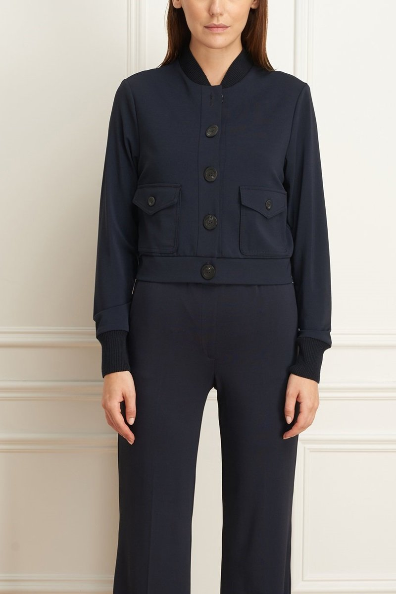 Matte Jersey Jacket with Patch Pockets - Iris Setlakwe - Outerwear - Jackets
