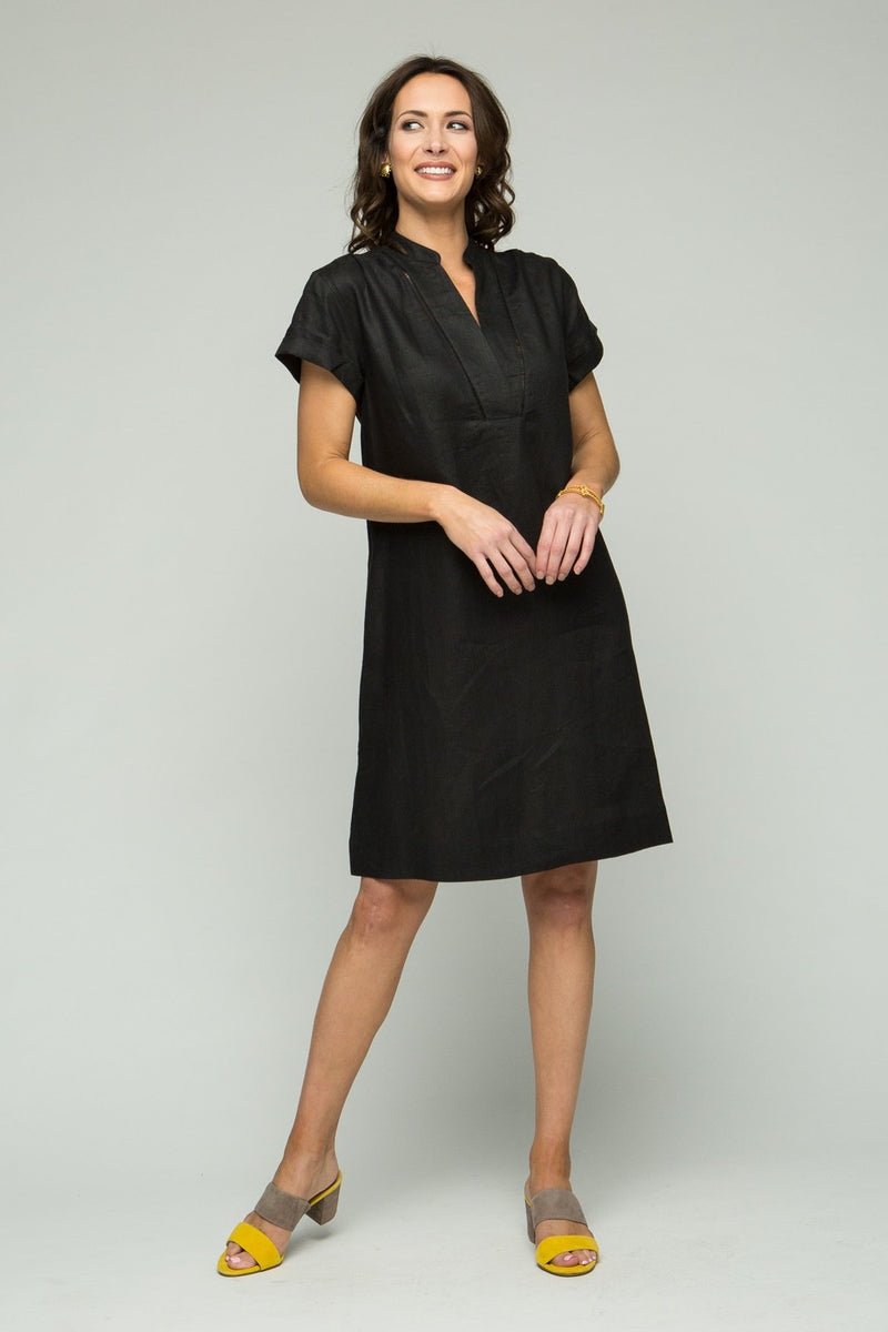 "38"" Cap Sleeve V Neck Dress"