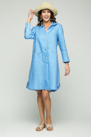 "38"" Button Front Tunic Shirt/Dress"