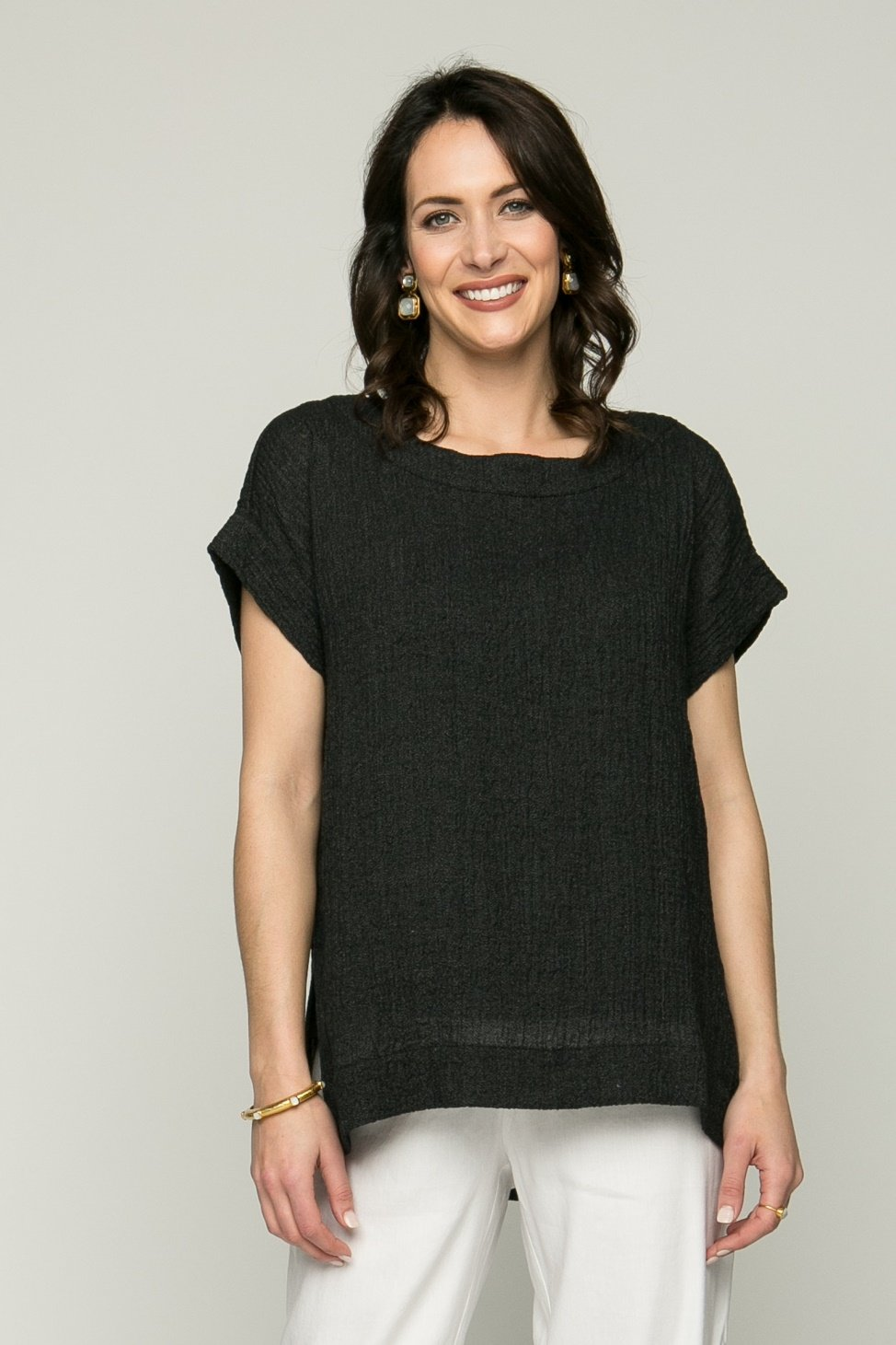 "26"" Short Sleeve Square Tunic"