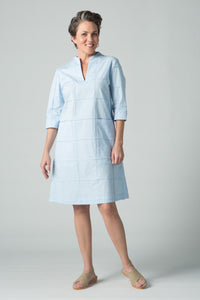 "40"" ¾ Sleeve Dress with Seam Details and Pockets - Amélline - Dresses - Casual"