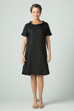 "37"" Small Cowl Short Sleeve Dress - Amélline"