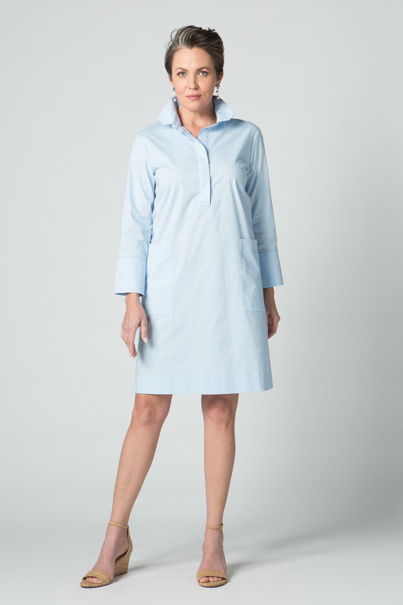 "38"" Shirt Dress with Chain Detail and Pockets"