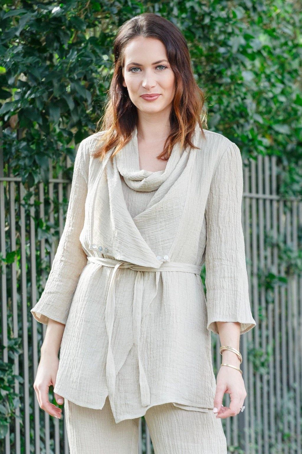 "30"" Cardigan with Waist Tie"