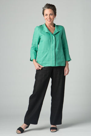 "41"" Wide Leg Pant with Button Front and Pockets - Amélline - Bottoms - Pants"