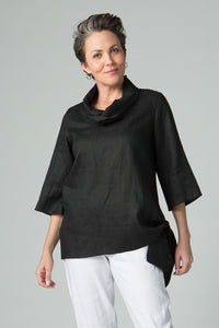 "27"" Cowl Neck with Side Tie Belt - Amélline - Tops - Blouses"