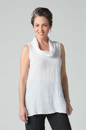 "28"" Sleeveless Cowl Neck Tunic - Amélline - Tops - Blouses"