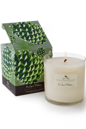 Roland Pine Large Soy Candle - The Soap & Paper Factory - Candles & Home Fragrances