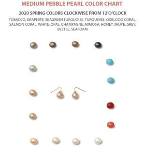 Classic Medium Pebble Pearl Earrings - Catherine Canino - Earring
