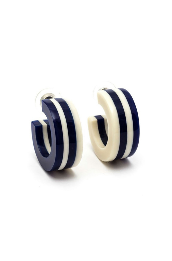 Ventura Striped Hoop Earrings
