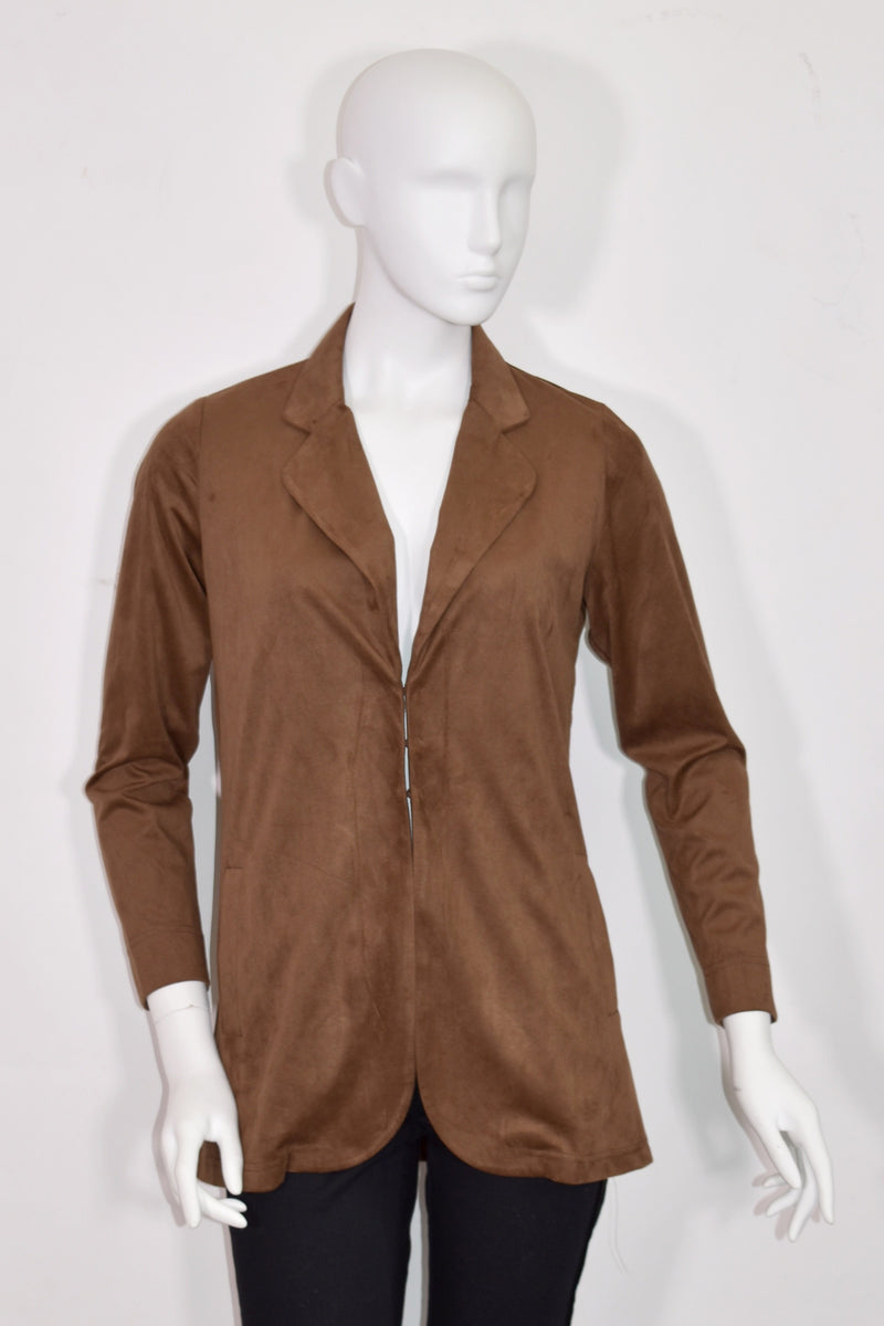 Lilli Sucré - Stretch Suede Open Jacket