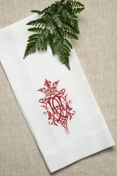 Embroidered Linen Towel - CRL - Linens