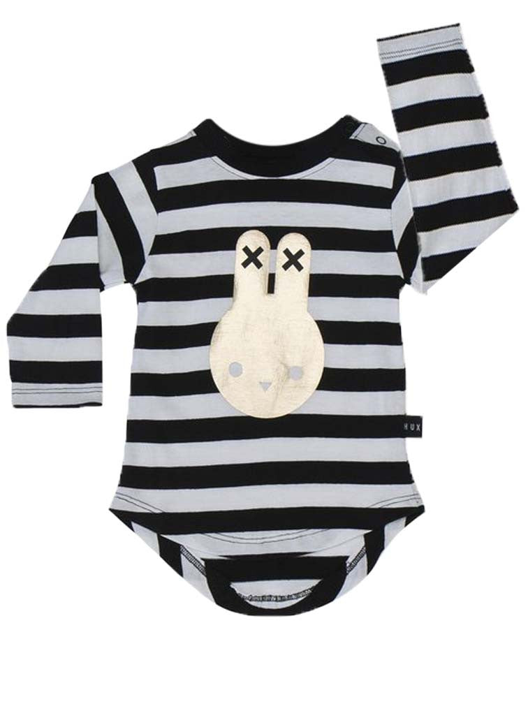 HUX BUNNY STRIPE LONG SLEEVE TEE