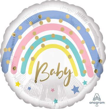 Pastel Rainbow Baby Balloon