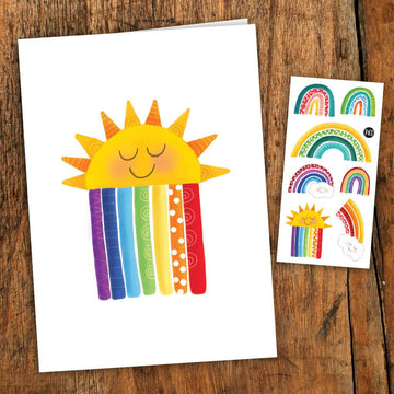 Rainbow Card with Tattoo
