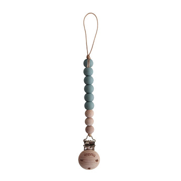 Cleo Pacifier Clip | Cadet Blue