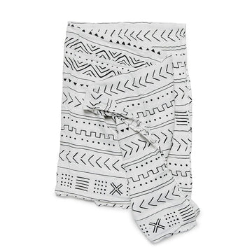Luxe Muslin Swaddle | White Mudcloth
