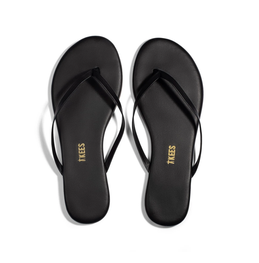 TKEES | Mini Black Flip Flops