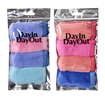 Day In Day Out Foil 4 Pack Mini Makeup Erasers