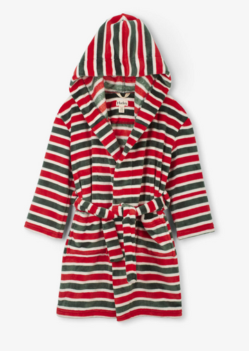 Holiday Stripes Fleece Robe