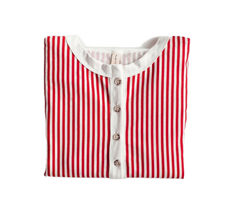 Kids Henley Romper - Candy Cane