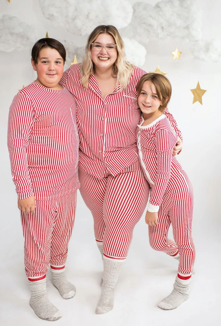 Ladies Classic Thermal Pajama Set | Candy Cane