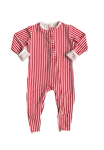 Zipper Sleeper | Candy Cane