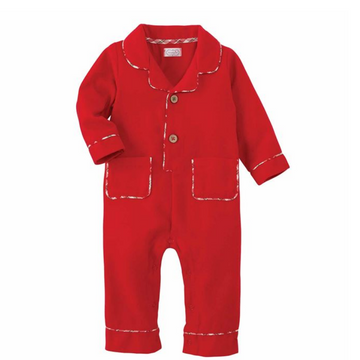 Flannel One-Piece Baby Pajama Set