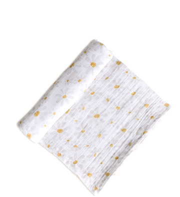 Organic Cotton Swaddle | Daisy
