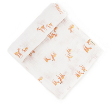 Organic Cotton Swaddle | Follow Me Deer