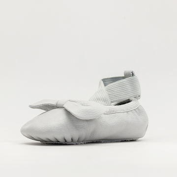 Leather Ballet Moccs | Dove Grey
