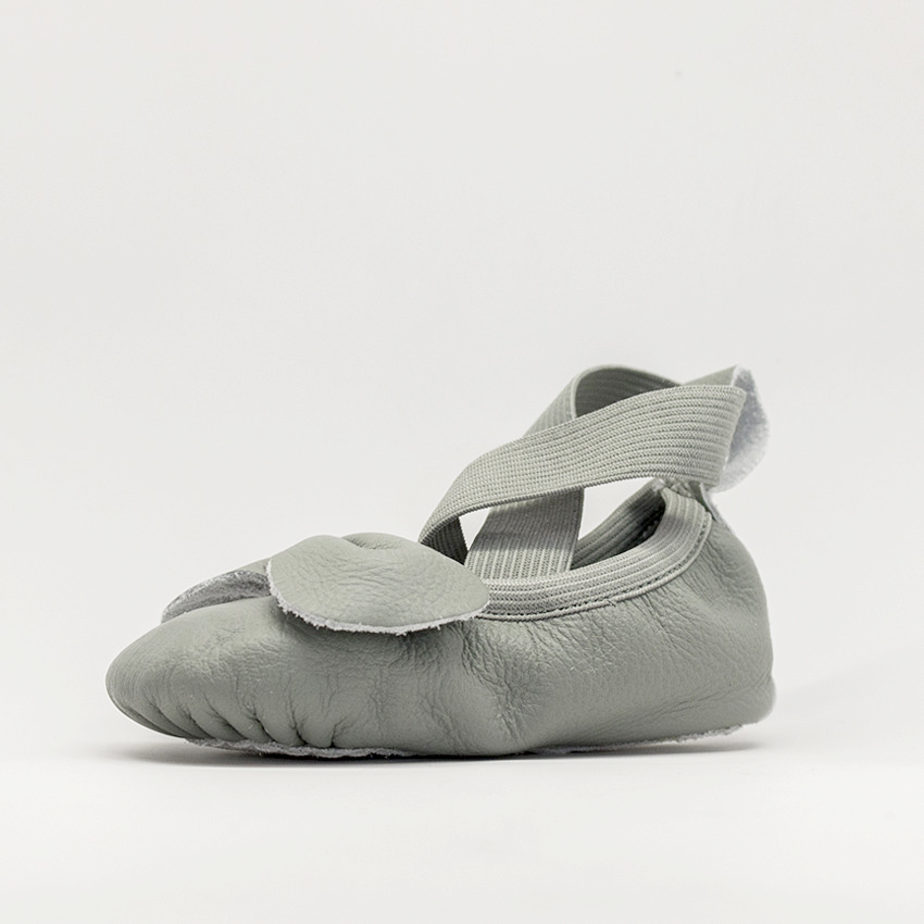 Leather Ballet Moccs - Moss